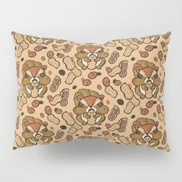 Squirrel eating peanuts Pillow Sham