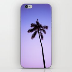 palm tree ver.violet iPhone Skin