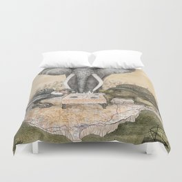 Council of Animals Duvet Cover