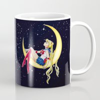 popeye Mugs featuring Pretty Guardian Sailor Moon by Yue Graphic Design