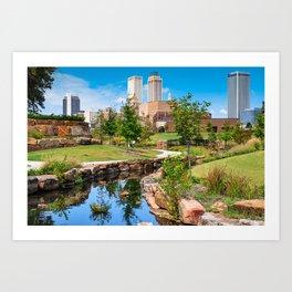 Tulsa Oklahoma Centennial Park Skyline Art Print