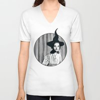 hocus pocus V-neck T-shirts featuring My Grandma Did The Hocus Pocus by Zombie Rust