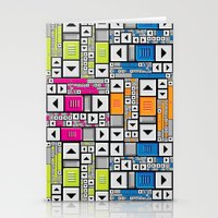 popart Stationery Cards featuring ScrollBar PopArt by Roberlan Borges