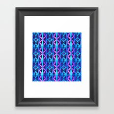 Blue/Purple Metallic Pattern Framed Art Print
