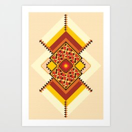 GEO CASHEW 2  Art Print