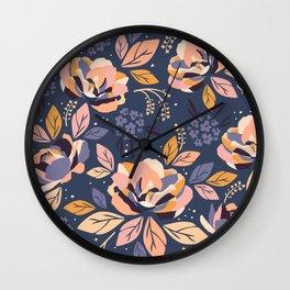 Dreaming Flowers Wall Clock