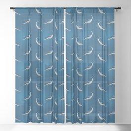 Elasmosaurus Sheer Curtain