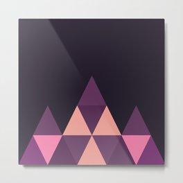 Geometric Pyramid Metal Print