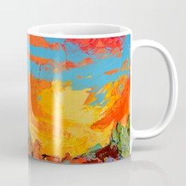 Saguaros Land Sunset Coffee Mug