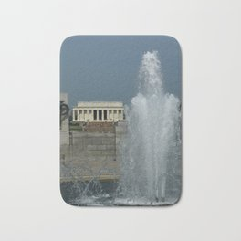 Memorial Fountain  And Lincoln Memorial Bath Mat