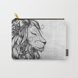 Poetic Lion B&W Carry-All Pouch