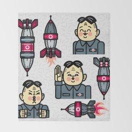 Kim Jong Un Rockets Throw Blanket