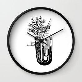 The tuba Wall Clock