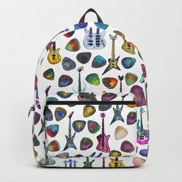 Rainbow Picks and Guitars Backpack