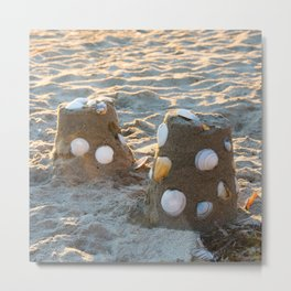 Sand castles Metal Print