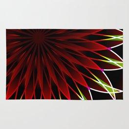Neon flower mandala Rug