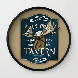 The Salty Moose Wall Clock