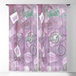 Pink Windows Sheer Curtain