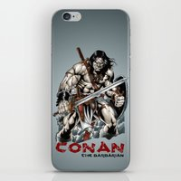 conan iPhone & iPod Skins featuring Conan by CromMorc