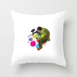 You Snooze You Bruise Paintball Player Marker Gift Throw Pillow