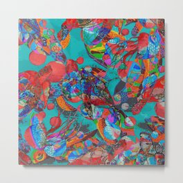 Sea Turtle Rhapsody Metal Print