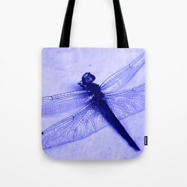 Dragonfly Frozen in Blue Tote Bag