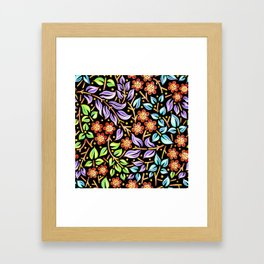 Filigree Flora Framed Art Print