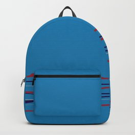 Multi Colored Scribble Line Design Bottom V8 Rustoleum 2021 Color of the Year Satin Paprika & Accent Backpack