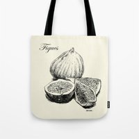 fig Tote Bags featuring Fig by Benoit Springer