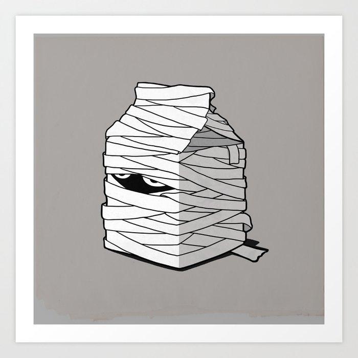 Very Long Life Milk Art Print