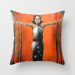 Strength // Woman Goddess Feminine Empower Earth Moon Sun Stars Energy Healing Feminist Feminism Throw Pillow