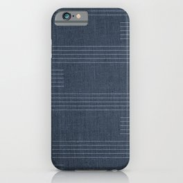 Mudcloth, Minimal, Pattern, Boho Prints, Navy Blue iPhone Case