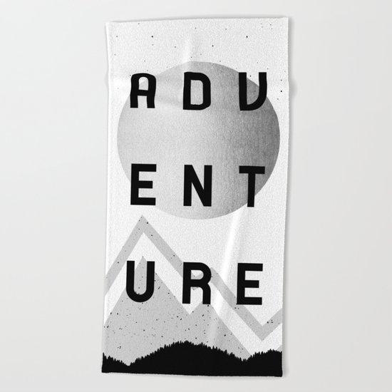 Adventure Silver Sunrise Beach Towel