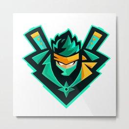 green ninja Metal Print