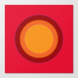 70s Retro Chic sunspot in Kapow Red! Canvas Print