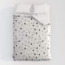 Pattern design with moons and craters Comforters
