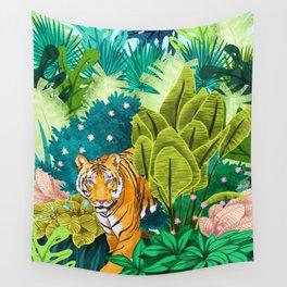 Jungle Tiger Wall Tapestry