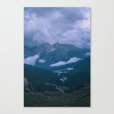 The Pearl of the Dolomites at dusk Canvas Print