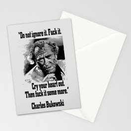 BUKOWSKI quote - FUCK it Stationery Cards