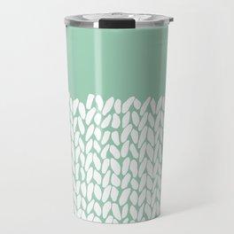 Half Knit Mint Travel Mug