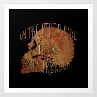 Fear vs Freedom Art Print