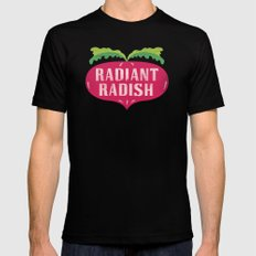 Radiant Radish MEDIUM Black Mens Fitted Tee