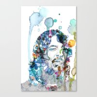 dave grohl Canvas Prints featuring Dave Grohl by NKlein Design