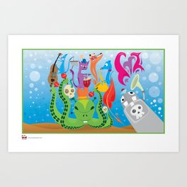 Under My Sea. Art Print