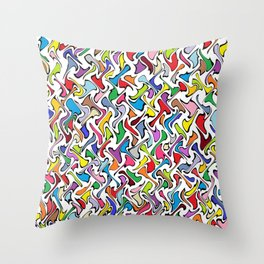 Whimsical Colors Throw Pillow