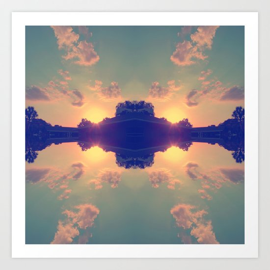 Multiple Sunsets  Art Print