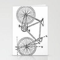 blueprint Stationery Cards featuring Bicycle Blueprint by BravuraMedia