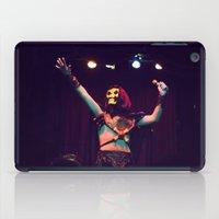 skeletor iPad Cases featuring Skeletor Karaoke by Reagan Lam