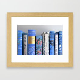 Shelfie in Blue Framed Art Print