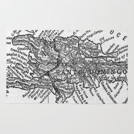 Vintage Map of Haiti (1911) Rug